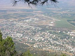 View of Kiryat Shmona from Manara cliffs