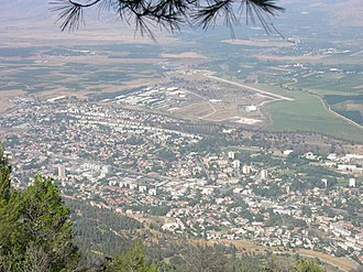 Kiryat Shmona - View of Kiryat Shmona from Manara cliffs