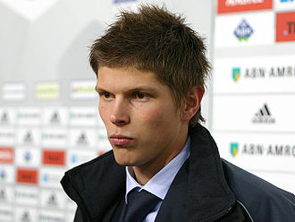 2007–08 Eredivisie - Klaas-Jan Huntelaar, the top scorer of the 2007-08 season.