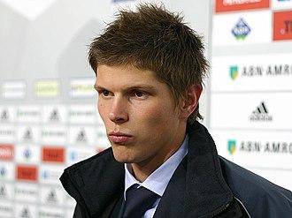 2007–08 Eredivisie - Klaas-Jan Huntelaar, the top scorer of the 2007-08 season.