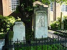 Das Grab Klopstocks an der Christianskirche in Hamburg-Ottensen (Quelle: Wikimedia)
