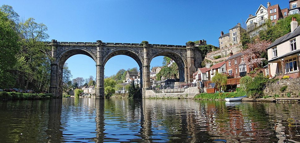 Knaresborough Viaduct from River Nidd