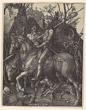 Four Horsemen of the Apocalypse - Albrecht Dürer, Knight, Death and the Devil, 1513