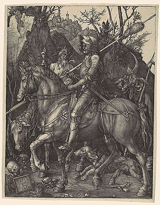 Knight, Death and the Devil - Knight, Death and the Devil, 1513, engraving, 24.5 x 19.1cm; copy in the Metropolitan Museum of Art, New York