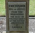 Knockushion's Hill of Justice, Girvan.JPG