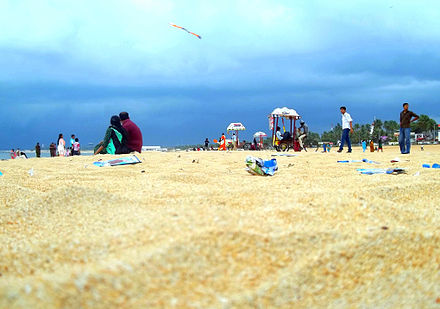 An evening view of Kollam Beach - Tourism in Kerala