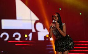 """K-Pop World Festival - Fan contest winner 2013, U.S.A.'s Arnelle """"Elly"""" Nonon."""