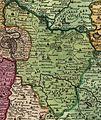 Kouřimský kraj na Vogtově mapě 1712.jpg
