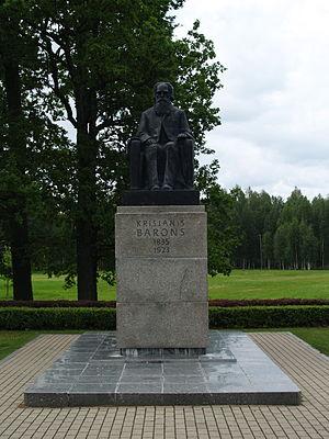 Krišjānis Barons - Monument of Krišjānis Barons in Sigulda
