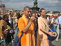 Krishnaits on Charles Bridge in Prague.JPG