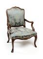 Länstol, del av möbelgrupp, 1700-tal - Hallwylska museet - 109822.tif