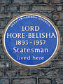 LORD HORE-BELISHA 1893-1957 Statesman lived here.jpg