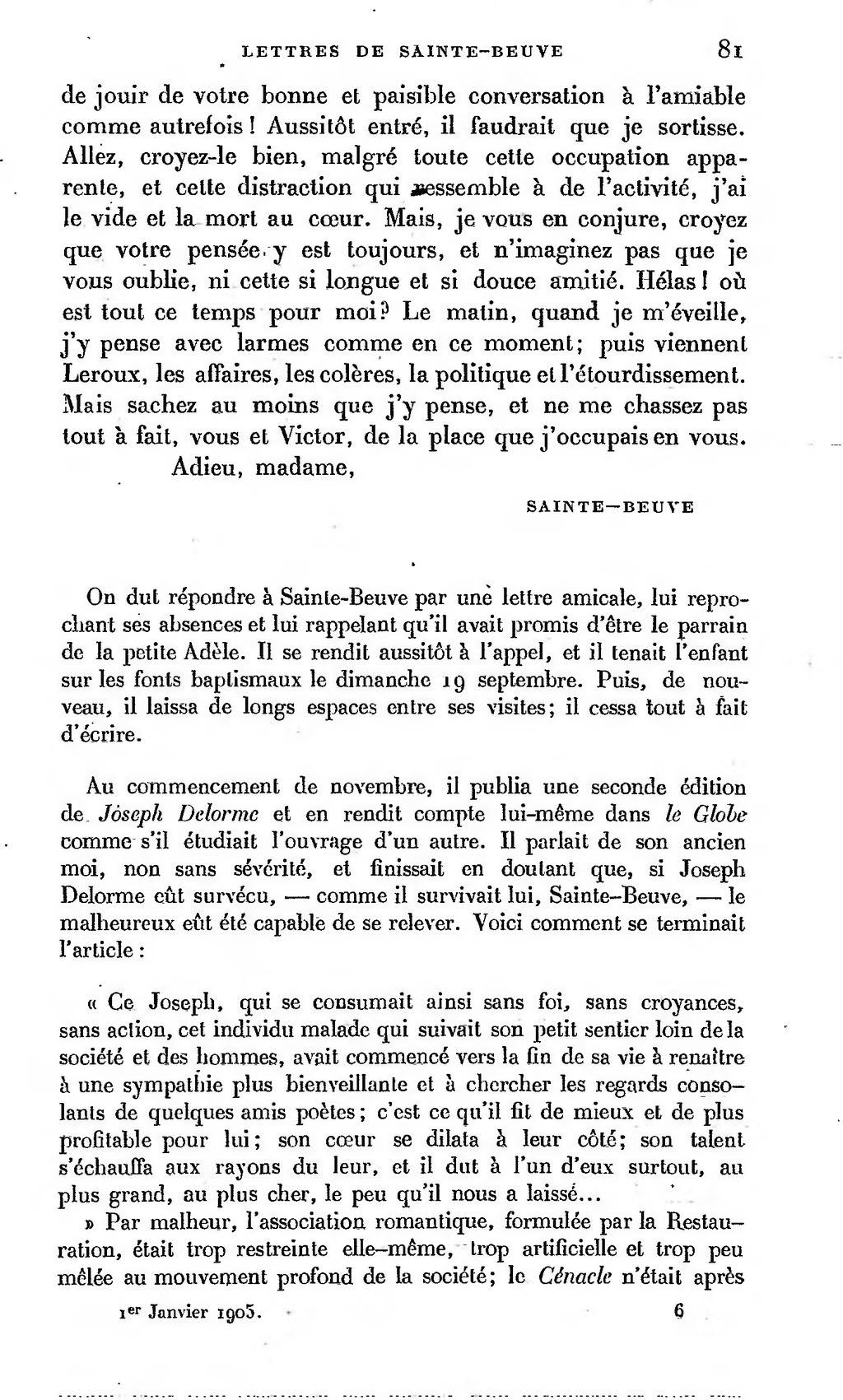 Page La Revue De Paris A11 T6 A12 T1 Lettres A Victor Hugo Djvu 48