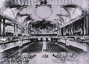 Palais des Fêtes - The concert hall, looking in the opposite direction, circa 1905/1910