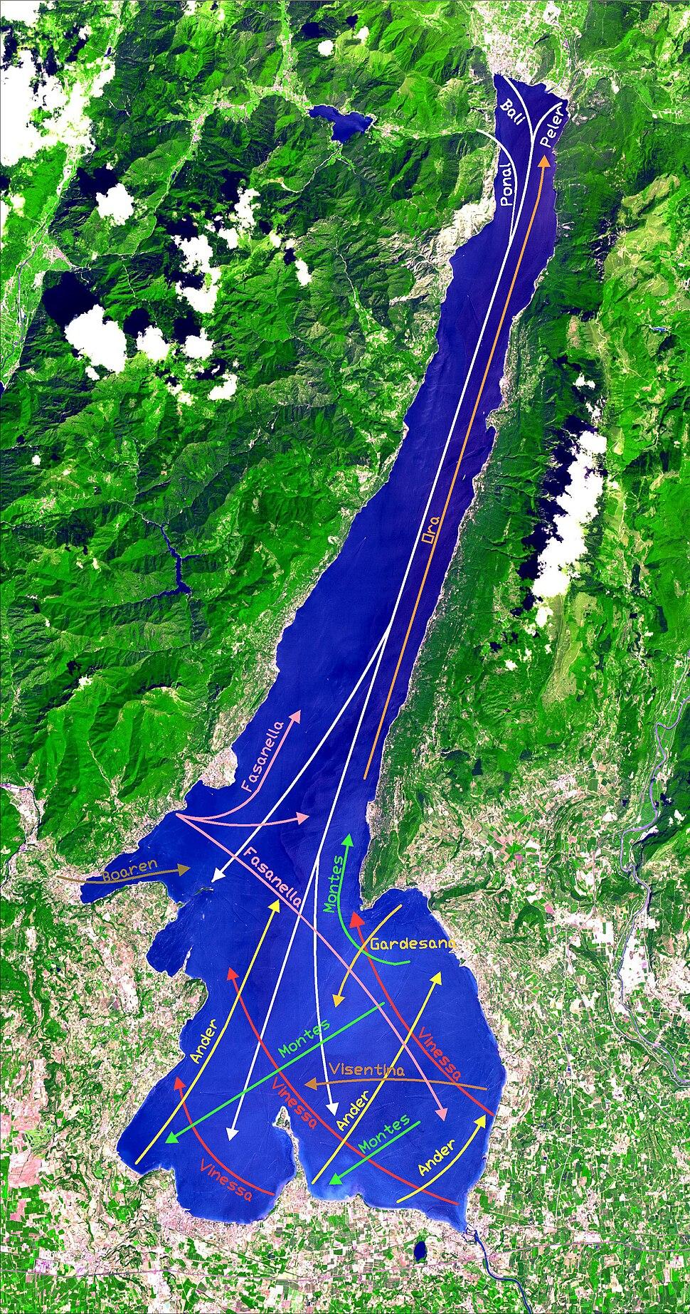 Lago di Garda venti