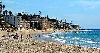 Laguna Beach, California - Condominiums line the beach.