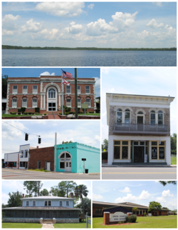 Images from top, left to right: Butler Lake, Union County Courthouse, Downtown Lake Butler, Townsend-Green Building & Museum, Lake Butler Woman's Club، Union County High School