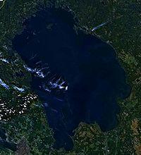 Δορυφορική φωτογραφία της Λάντογκα.