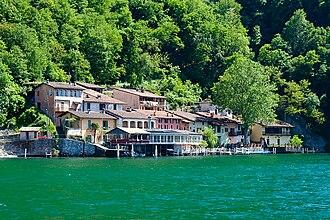 Caprino, Switzerland - Lakeside houses in Cantine di Caprino.