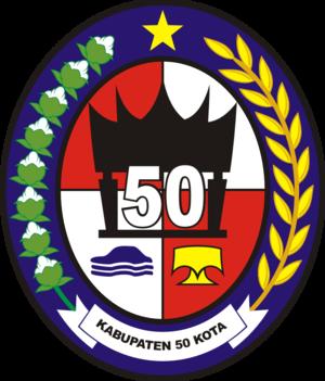 Lima Puluh Kota Regency - Image: Lambang Kabupaten Lima Puluh Kota
