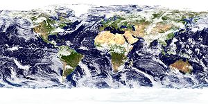 International Satellite Cloud Climatology Project - NASA Goddard Space Flight Center image of clouds, land, ocean, and sea ice