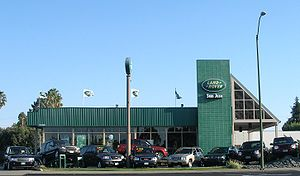 A Land Rover dealership in San Jose