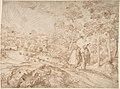 Landscape with Two Pilgrims Walking Along a Road MET DP801104.jpg