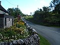 Lane, cottage garden and telephone box - geograph.org.uk - 1453298.jpg