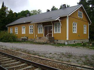 Lappohja railway station Railway station in Hanko, Finland