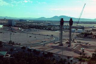 Skyvue unfinished ferris wheel in Las Vegas, Nevada