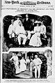 Latest photograph of President and Mrs. Roosevelt and their children at Oyster Bay. Latest Photograph of Thomas A. Edison, Mrs. Edison and their Children. LOC 3797525743.jpg