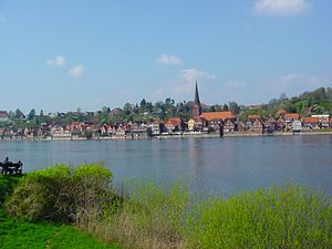 Lauenburg (Elbe) - View from the Elbe