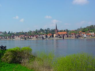 Lauenburg - View from the Elbe
