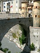 Bridge over the moat to Entrevaux
