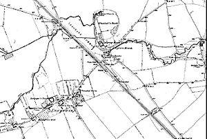 Leagrave - Map showing the extent of Leagrave Village in 1889
