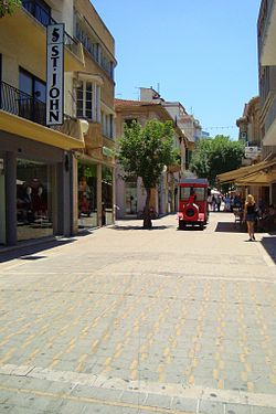 Ledra street train in Ledra street in Nicosia Republic of Cyprus.jpg
