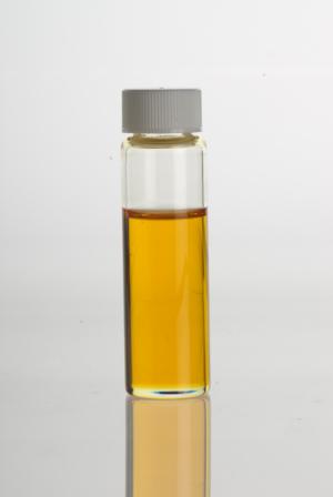 Backhousia citriodora - Lemon Myrtle (Backhousia citriodora) essential oil in a clear glass vial