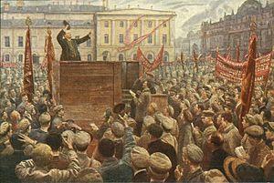 Lenin Diễn Thuyết Trước Sự Ủng Hộ Của Binh Sĩ Hồng Quân Và Nhân Dân
