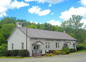 Lenox Township, Susquehanna County, Pennsylvania - Community Hall in Lenoxville