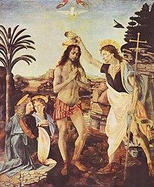 Андреа верроккьо крещение ок 1472