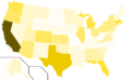 Libertarian Party presidential election results, 1988, raw vote count (United States of America).png