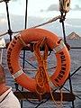 Lifebelt on SV Polynesia (288580380).jpg