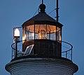 Lighthouse lantern room at night St. Marks NWR 2014-08-14.jpg