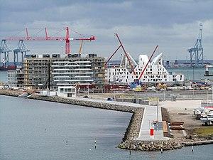 Aarhus Docklands - Light house construction, February 2012.