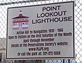 Lighthouse signage - Point Lookout Maryland - 2012-01-15.jpg