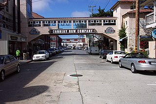 Cannery Row Historic area in Monterey, California