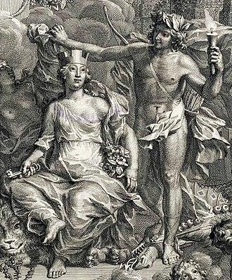 Jan Wandelaar - Frontispiece to the Linnaeus work Hortus Cliffortianus