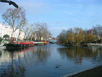 Paddington Arm - The canal junction at Little Venice