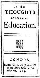 <i>Some Thoughts Concerning Education</i> book by John Locke