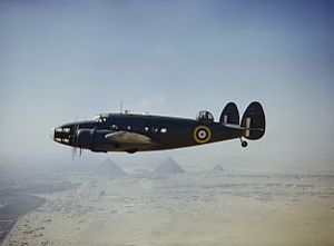 Lockheed Hudson VI RAF flying over the Pyramids 1942.jpg